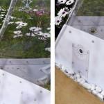 8-baza din policarbonat alb Gradina Invizibila SHJWorks Danemarca
