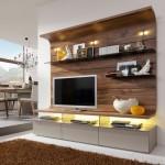8-biblioteca living cu design spectaculos estompare impact vizual televizor
