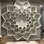 8-biblioteca moderna in forma de floare proiect DIY amenajare living