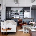 8-bucatarie mica apartament amenajata in living design vintage
