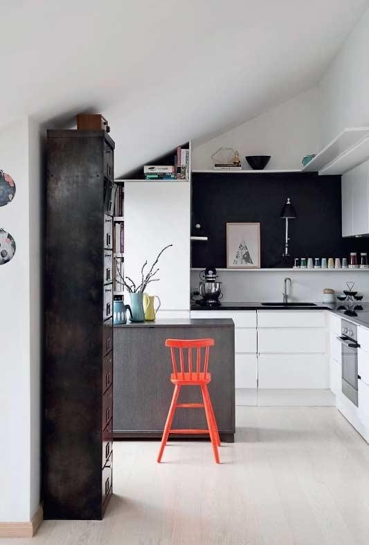 bucatarie mica open space apartament mansarda