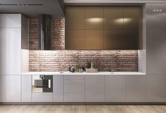 8-bucatarie mobila moderna perete caramida aparenta