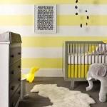 8-camera bebe decorata in galben alb si gri