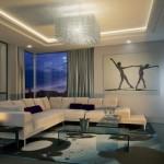 8-canapea coltar crem in decorul unui living minimalist
