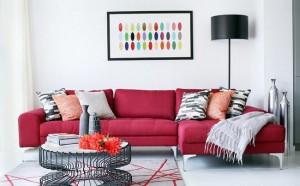 8-canapea coltar design minimalist culoare visinie