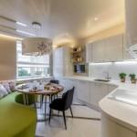 8-canapea coltar vernil decor bucatarie moderna cu mobila alba