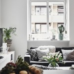 8-canapea gri decora living open space apartament amenajat in stil scandinav