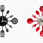 8-ceasuri de bucatarie decorate cu tacamuri