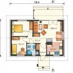 8-compartimentare interior casa de vacanta mica 57 mp cu 2 dormitoare