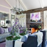 8-decor living modern rustic in nuante de violet lila gri si argintiu