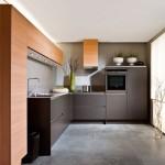8-design mobila bucatarie moderna pe colt combinatie wenge si cires