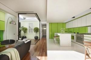 8-design modern amenajare living si bucatarie in plan deschis