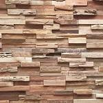 8-detaliu perete decorat cu placi decorative din lemn reciclat UltraWood Teak