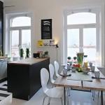 8-dining si bucatarie apartament stil scandinav doua camere