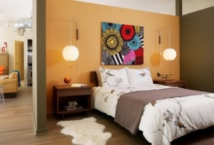 8-dormitor accente retro cu covoras moale si pufos imitatie blanita naturala