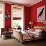 8-dormitor clasic decorat in alb rosu si negru