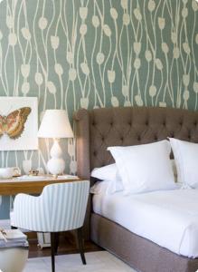 8-dormitor clasic tapet decorativ imprimeu floral vegetal