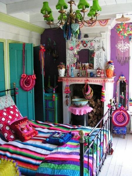 8-dormitor colorat amenajat in stil boho chic