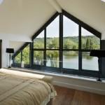 8-dormitor mansarda casa Amfibie pe structura din lemn