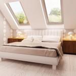 8-dormitor modern amenajat in mansarda proiect casa mica 99 mp