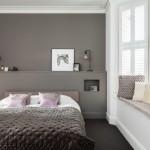 8-dormitor modern de inspiratie scandinava cu perete si pardoseala gri