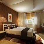8-dormitor modern elegant in tonuri de maro si crem apartament 2 camere
