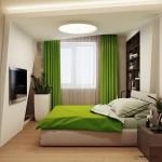 8-dormitor modern mic decorat in alb maro si vernil