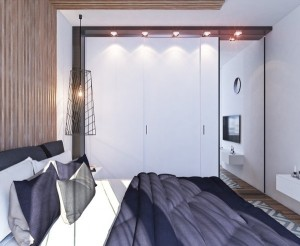 8-dressing alb cu usi glisante si oglinda decor dormitor matrimonial