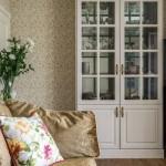 8-dulap alb vitrina pentru depozitarea veselei