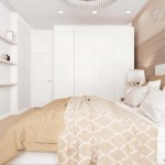 8-dulap complet alb in amenajarea unui dormitor modern de 10 mp in nuante de bej