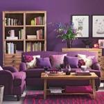 8-excese de violet in amenajarea unui living