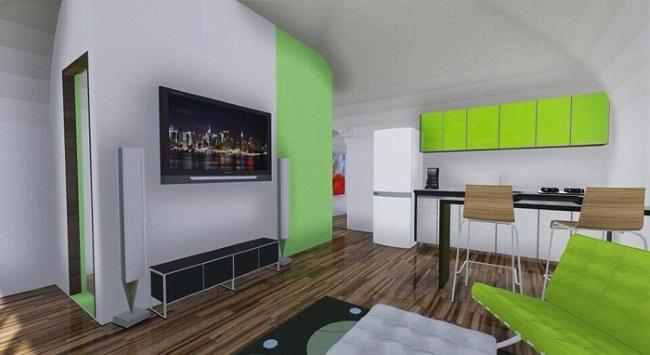 8-exemplu amenajare interior casa prefabricata ecologica Green Magic Homes
