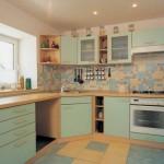 8-faianta colorata bucatarie moderna accente retro mobilier bleu