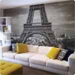 8-foto tapet decorativ perete living turnul eiffel paris