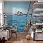 8-fototapet cu peisaj maritim in culori reci pentru marirea vizuala a unui spatiu