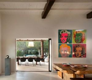 8-iesire din living pe terasa casa veche restaurata Ibiza