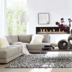 8-lampadar cu picior arcuit in decorul unui living modern