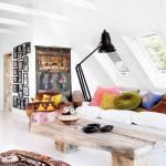 8-living luminos scandinav amenajat in mansarda