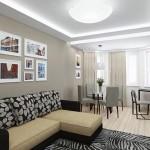 8-living mdoern de apartament cu loc de luat masa