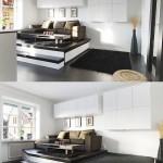 8-living modern platforma inaltata cu pat integrat dedesubt garsoniera