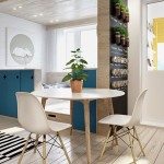 8-loc de luat masa asezat la intersectia livingului dormitorului si bucatariei apartament mic