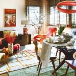 8-loc de luat masa in living modern cu accente retro