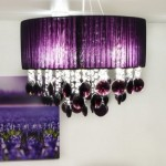 8-lustra decorativa living violet cu cristale transparente si mov