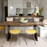 8-lustre tip pendul montate pe tavan deasupra mesei din bucatarie