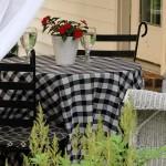 8-masa si scaune din fier forjat pentru terasa amenajata in stil francez
