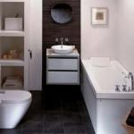 8-masca suspendata lavoar baie moderna in alb cu accente negre