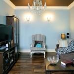 8-mobila in culori inchise in amenajarea unui living de mici dimensiuni