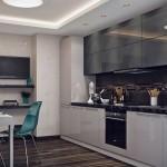 8-mobila in doua culori alb si gri inchis decor bucatarie moderna