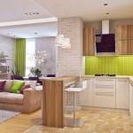 8-mobila pe colt bucatarie moderna alb vernil si maro
