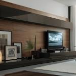 8-mobila stil minimalist perete cu televizorul din living
